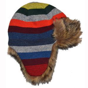 GAP Accessories - Baby Gap Crazy Stripe Faux Fur Lined Trapper Hat